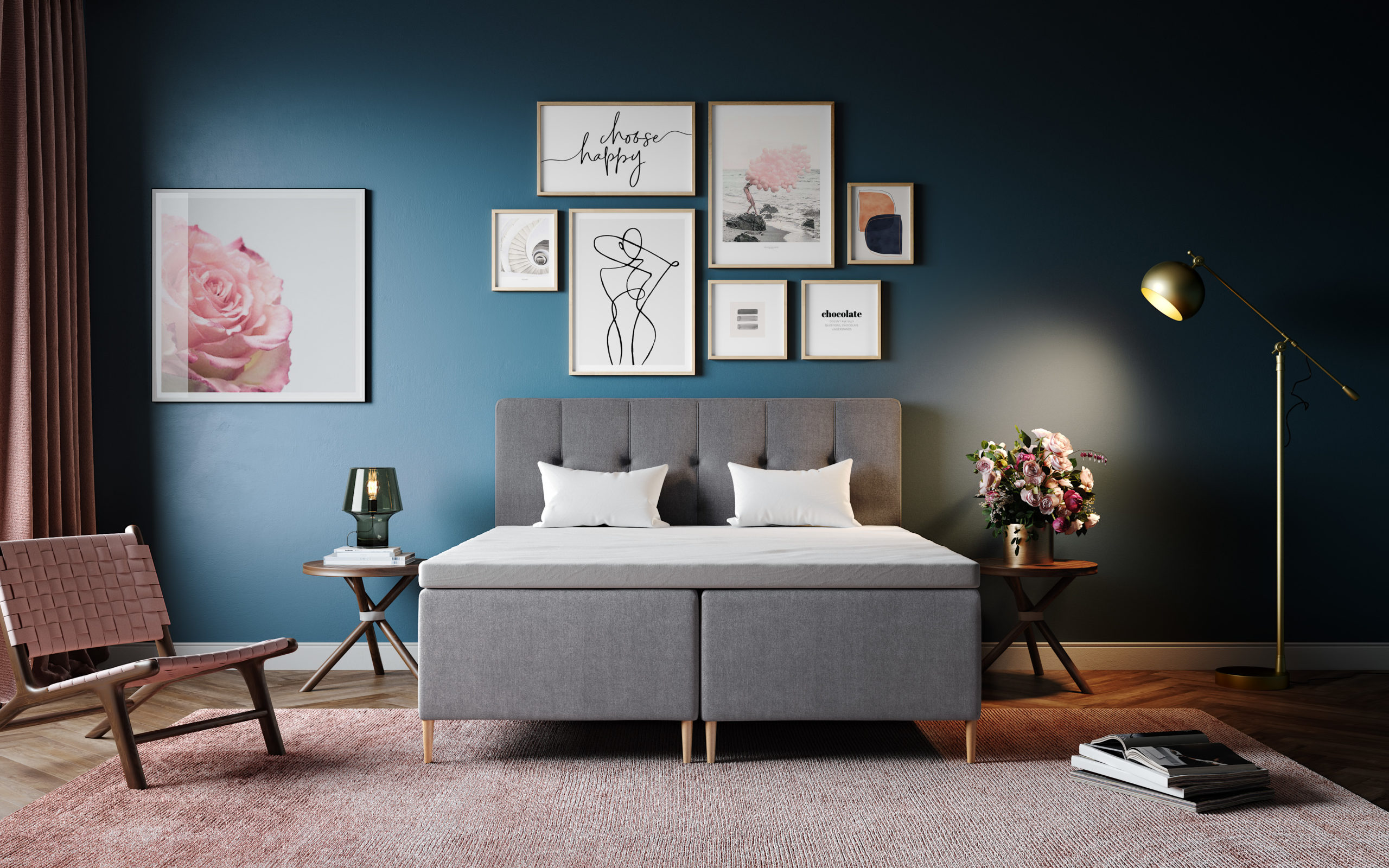 malet-soveværelse